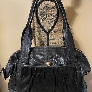 Paola Masi Black Leather Shoulder Bag